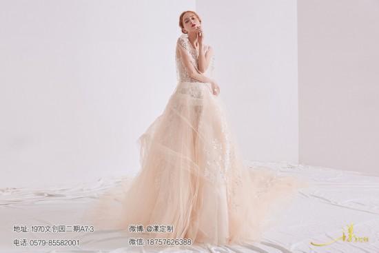 義烏漾定制打造最美新娘 義烏婚紗禮服中不能缺少頭紗