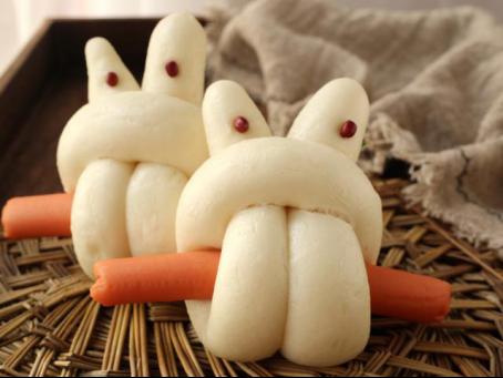 金锣火腿肠怎么做好吃?不妨和孩子一起做个兔子馒头吧!