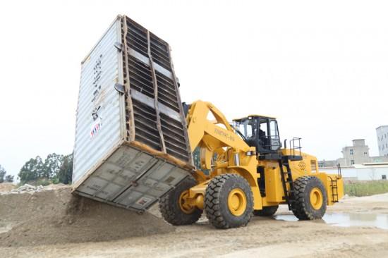 福大叉车厂推出一种智能高效的移动式重型铲车集装箱翻转机