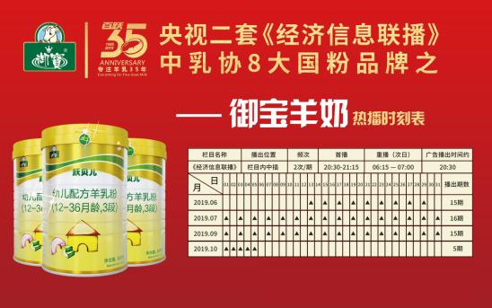 """为""""滋养中国宝宝""""助力!御宝羊奶与飞鹤等8家国乳一起携手央视,造就国家乳业品牌!"""