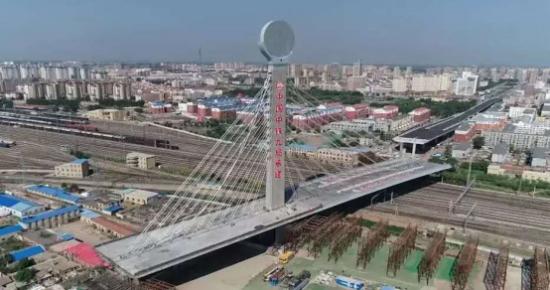 """四平市南湖立交桥""""空中体操""""      完成华丽转身"""