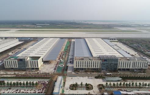 中建一局北京新机场东航货运区项目全面竣工