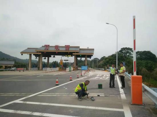 江西省高速集团宜春管理中心入口称重检测试点站顺利完工