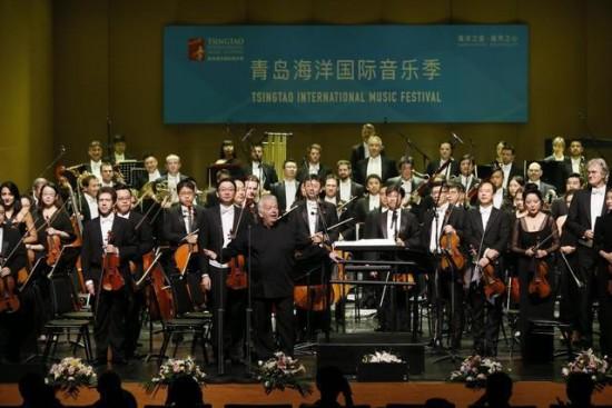 """青岛海洋国际音乐季""""东唱西和"""" 交响音乐会7日完美上演"""