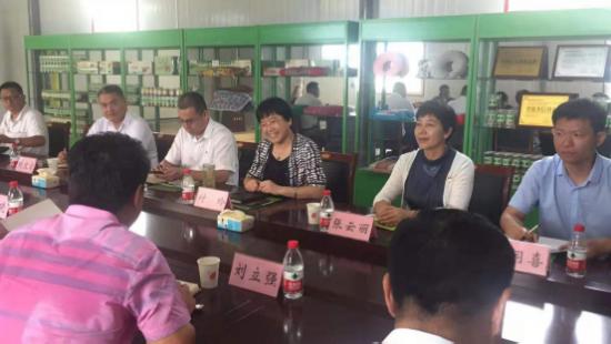 山东省肥城市委常委、统战部部长付玲莅临山东珍益药业有限公司