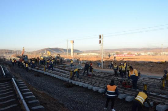 锦承铁路义县至朝阳段扩能改造工程转新左线改造封锁正点开通