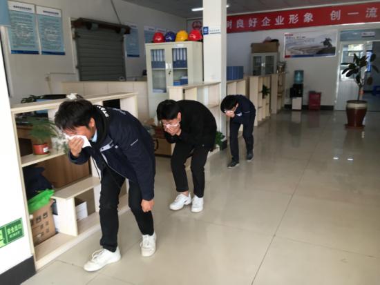 中铁上海局杭海机电5标项目开展消防演练活动