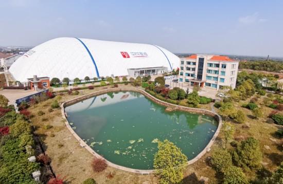 50,000平方米气膜产研基地从绿意盎然走向繁华——中成空间气膜