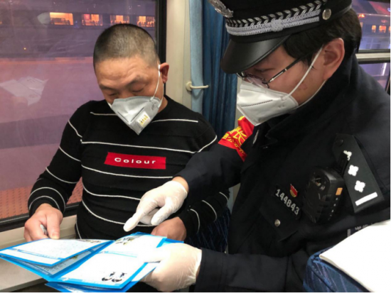 福州乘警支隊在列車上開展列車防騙宣傳活動