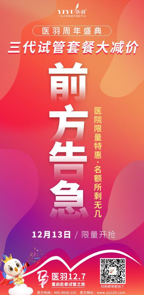 醫羽周年盛惠|三代試管助孕套餐優惠今已全面開啟!