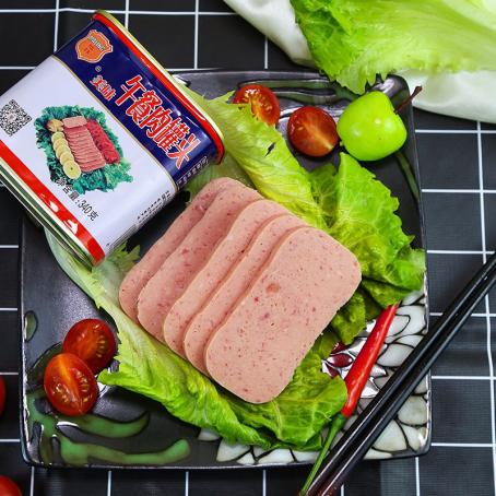 中粮梅林午餐肉大口吃肉 快乐的选择
